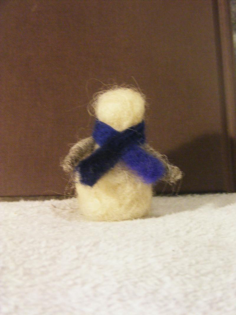 handcrafted felted snowman gift